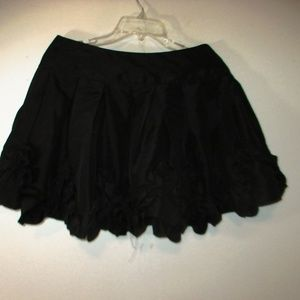Rachael & Chloe mini skirt ruffled black size M